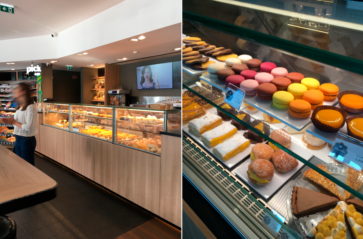 Vitrinas KUBO para padaria e pastelaria. KUBO display cases for bakery and pastry.