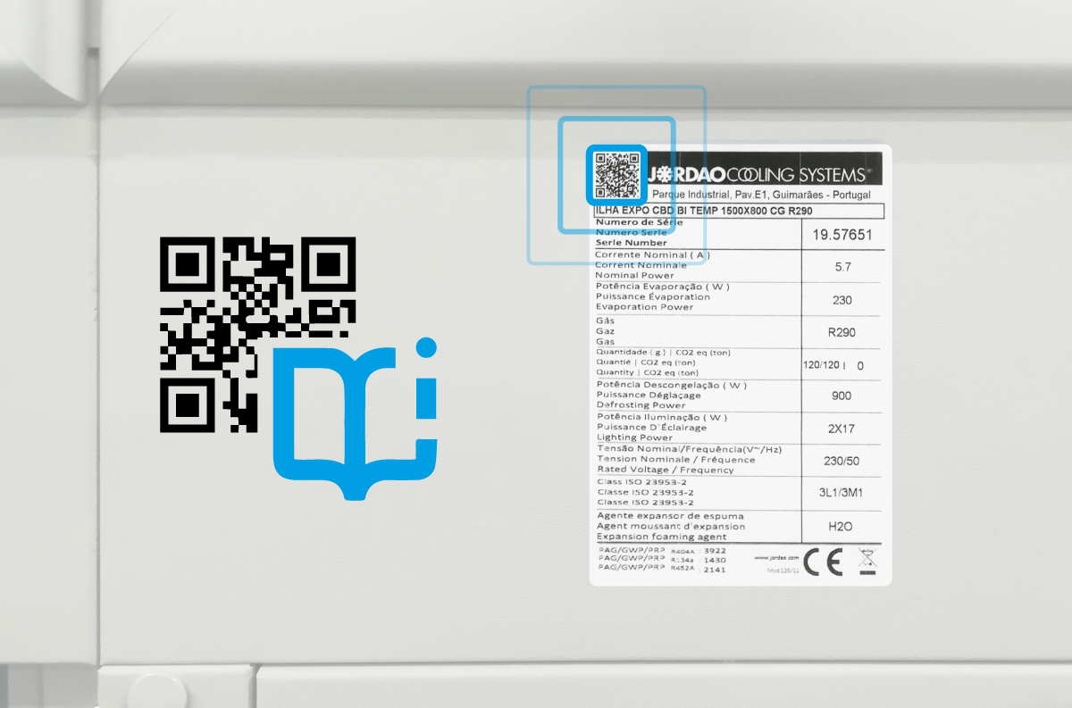 WHAT CONTAINS THE QR CODE PRINTED ON THE SERIAL PLATE?